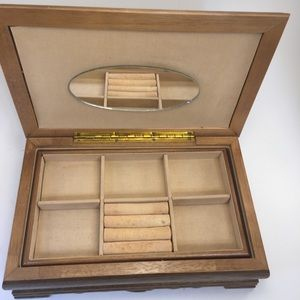 Storage & Organization - Vintage Asian Crafted Wood Jewelry Box!